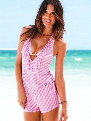 Beach Sexy Stripe Romper Cover-up