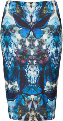 Topshop Petite X-Ray Butterfly Tube Skirt