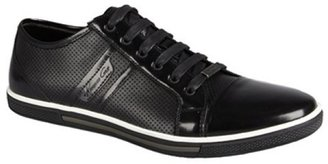 Kenneth Cole New York black leather 'Down N Up' perforated cap toe sneakers