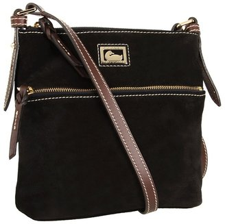 Dooney & Bourke Letter Carrier (Black/Moro Trim) - Bags and Luggage
