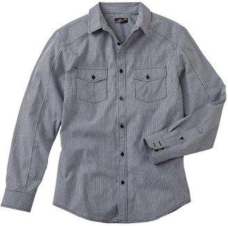 Helix modern-fit gingham plaid shirt