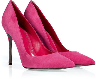 Sergio Rossi Pink Suede Pointy Toe Pumps