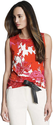 Jones New York Collection Sleeveless Floral Printed Shell