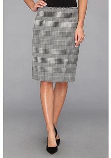 Calvin Klein Glen Plaid Straight Skirt