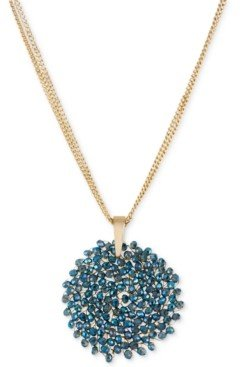 Kenneth Cole New York Topaz Woven Faceted Bead Pendant Necklace