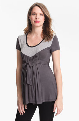 Japanese Weekend 'Tipped Yoke' Maternity Top