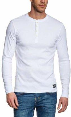f390eb90507 Jack and Jones Men's Jjvc Nixon Button Front Long Sleeve T-Shirt