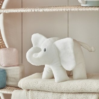 The White Company Indy Elephant with Crinkle Ears, White, One Size