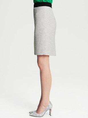 Banana Republic Ivory Tweed Pencil Skirt