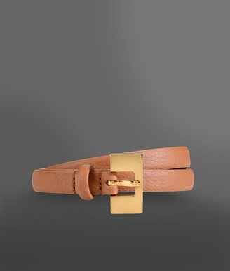 Giorgio Armani Calfskin Belt Aged Effect