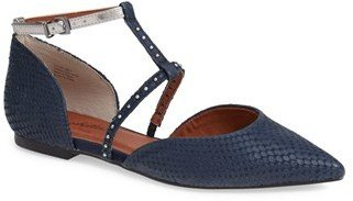 Seychelles 'Uncovered' Leather Ankle Strap Flat (Women)