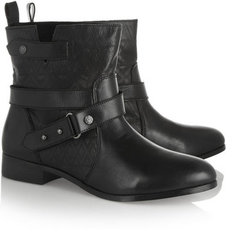 Twelfth St. By Cynthia Vincent West embossed leather ankle boots