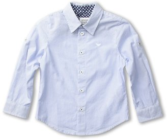 Armani Junior Shirt (Toddler/Little Kids/Big Kids) (Blue) - Apparel