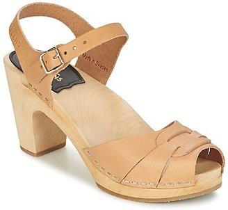 Swedish Hasbeens PEEP TOE SUPER HIGH women's Sandals in Beige