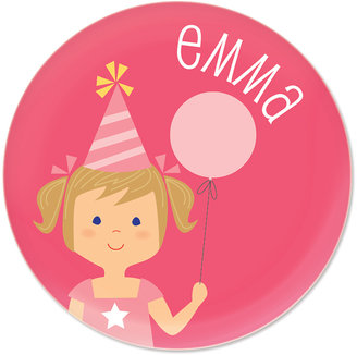 Dark Blonde-Haired Pigtails Girl Personalized Mini Plate