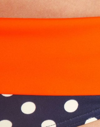 Figleaves swimwear Tuscany Spot Fold Bikini Brief