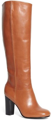 Tall Leather Stacked Heel Boots $498 thestylecure.com