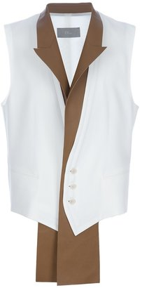 Christian Dior leather scarf detail waistcoat