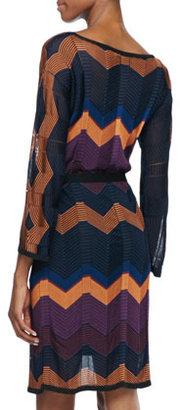 Trina Turk Albo Zigzag Tie-Waist Dress