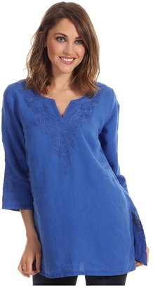 Tommy Bahama Two Palms Peacock Tunic (Cobalt Glass) - Apparel