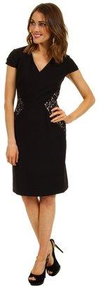Tahari by Arthur S. Levine Tahari by ASL - Shelli Crepe/Bonded Lace Dress (Black) - Apparel