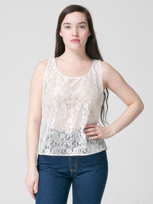American Apparel Leaf Flower Lace Loose Tank