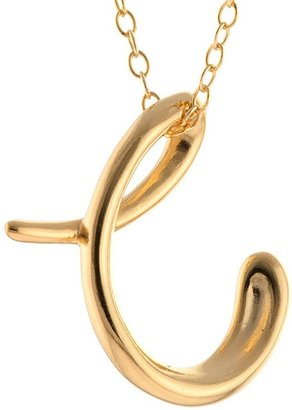 "Distributed By Target Women' Gold Plated Letter """" Pendant - Gold (18"")"