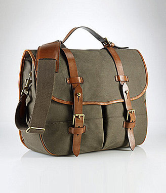 Polo Ralph Lauren Waxed Twill Messenger Bag