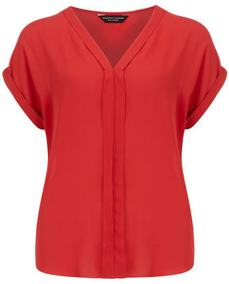 Dorothy Perkins Red pleat front top