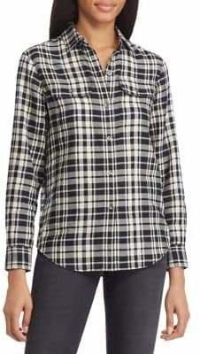 Chaps Checked Cotton Button-Down Shirt
