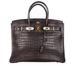 Hermes pristine (PR Matte Havane Crocodile 35cm Birkin Bag with Gold Hardware