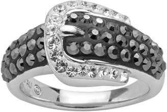 Swarovski Artistique Sterling Silver Crystal Buckle Ring - Made with Crystals