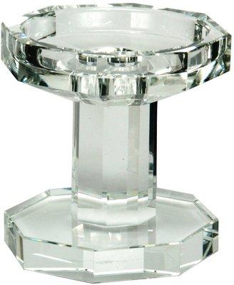 "Oleg Cassini Ashley 4"" Crystal Tapered Pillar Candle Holder"