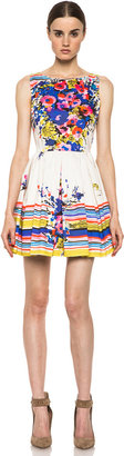 RED Valentino Flowers Bouquet Print Dress in Ibisco