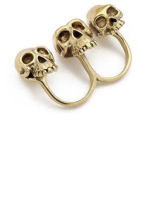 Monserat De Lucca Evolution Skull Knuckle Ring