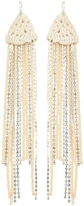 Chan Luu Cotton Crochet Setting With Glass Beads And Crystal Chains (Doeskin) - Jewelry