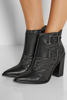 Tibi Piper snake-effect leather boots