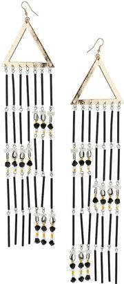 Topshop Long Triangle Tubes Earrings