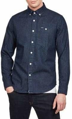 G Star Slim Gingham Cotton Sport Shirt