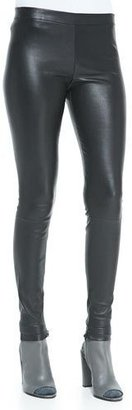 Vince Smooth Leather Leggings, Black $1,250 thestylecure.com