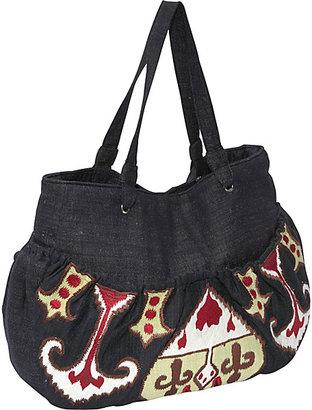 Moyna Handbags Handloom Silk Ikat Embroidered Bag
