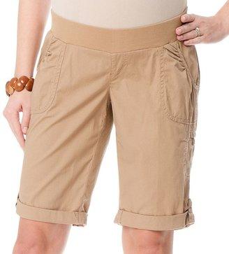 Oh Baby by motherhood TM underbelly poplin bermuda shorts - maternity