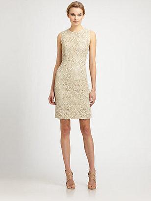 Carmen Marc Valvo Lace Shift Dress