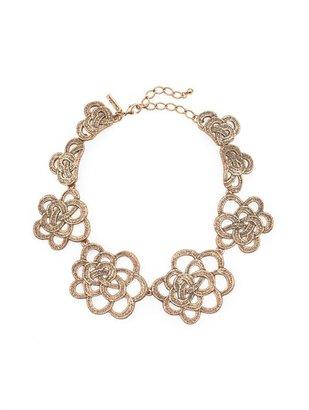 Oscar de la Renta Gardenia Collar Necklace