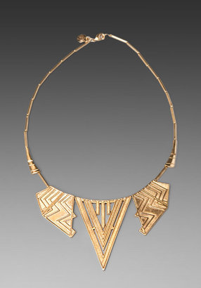 House Of Harlow Chevron Five Station Necklace