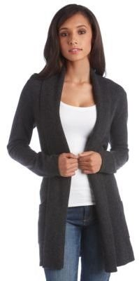 Lord & Taylor Cashmere Open-Front Cardigan