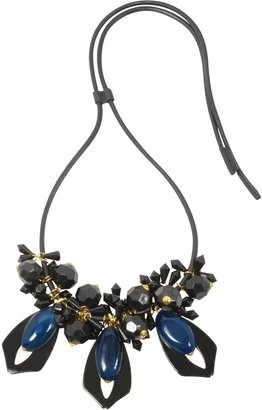Marni Black and Blue Resin Necklace