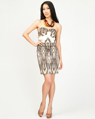 Le Château Chiffon Tribal Tube Dress