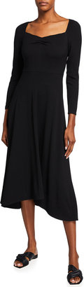 Vince Ruched Long-Sleeve Dress