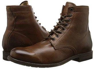 Frye Tyler Lace Up (Black Soft Vintage Leather) Men's Lace-up Boots